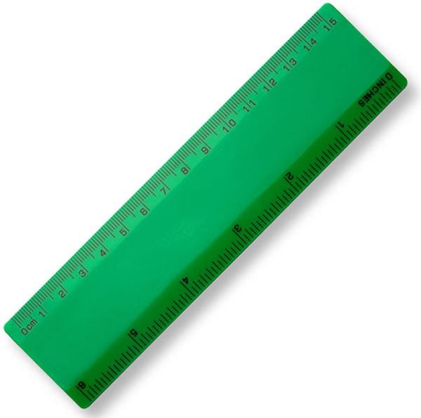 15cm Plastic Ruler - Green