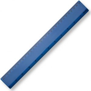 30cm Plastic Ruler - Blue