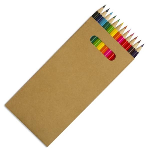 12 Full Size Colourworld Pencils in Carton