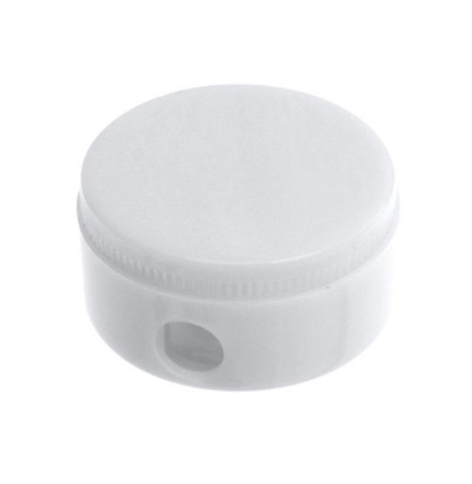 Round Pencil Sharpener - White